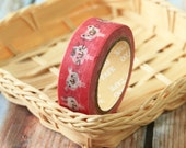 CAT BUNNY Pink Washi Masking Tape