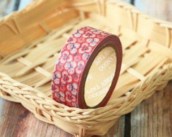 FLORAL PINK Washi Masking Tape