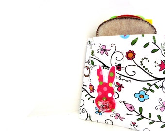 Eco Friendly Reusable Sandwich Bag Bunny Butt Apllique
