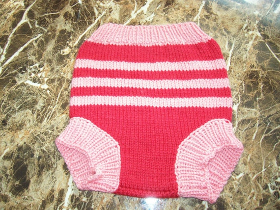Hand Knitted Wool Cloth Diaper Cover Soaker Wool Nappy Cover Baby Diaper Cover Knit Cloth Diaper size Large, 12-18 Months