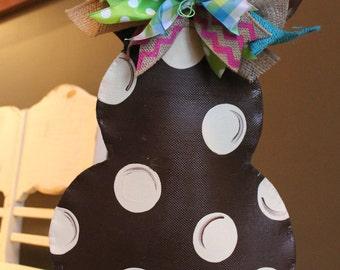 Chocolate Brown Easter bunny door decoration