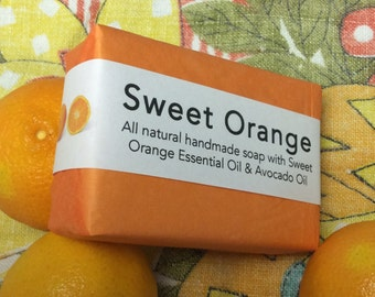 Sweet Orange All-Natural Handmade Soap with 15-Fold Orange Essential Oil