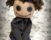 Wybie Button Eye Doll Inspired The other WYBIE- Coraline Jones- creepy cute goth ooak