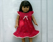 "FREE SHIPPING / 18"" Doll Matching Nightgown--Dolly & Me / American Girl and Bitty Baby //  Ready to Ship"