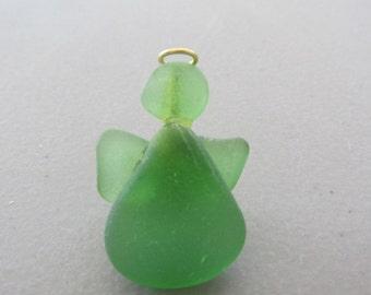 Angel Pin, Angel Brooch, Green Angel, Beach Glass Jewelry, Beach Glass Pin, Guardian Angel, Sea Glass Angel, Beach Glass Angel, Angel Brooch