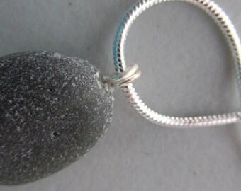 Rare Black Pendant, Sea Glass Necklace, Seaglass Jewelry, Beach Glass Jewelry, Black Necklace, Gift for Her