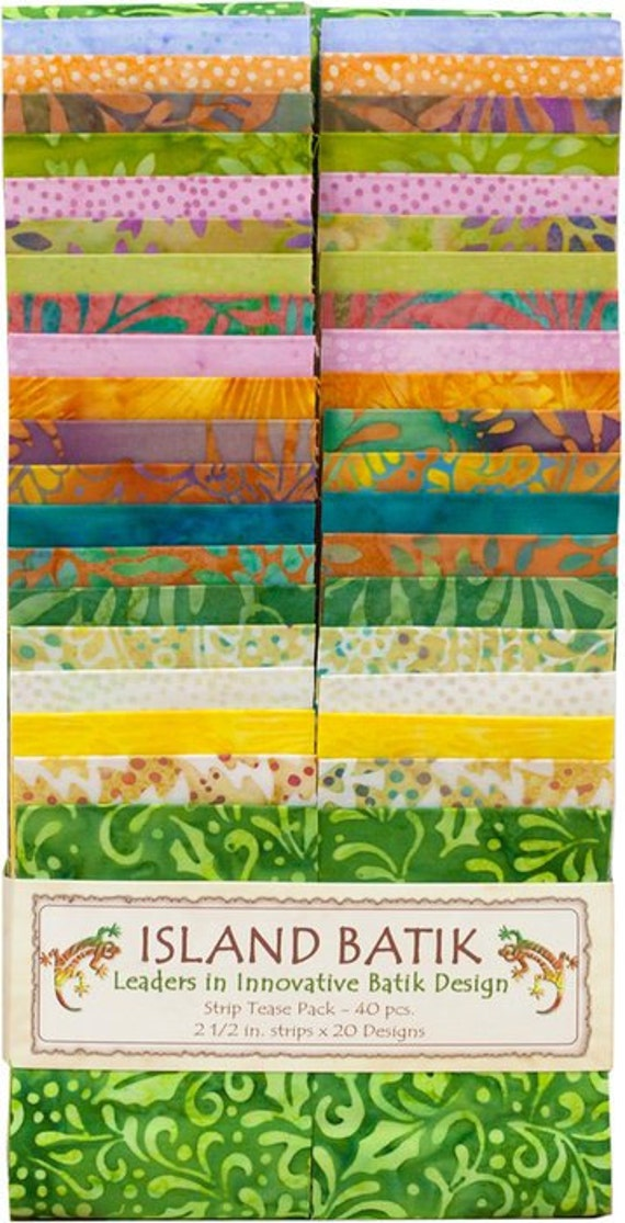dewdrop strip tease pack from island batik 2 5 inch strips. Black Bedroom Furniture Sets. Home Design Ideas
