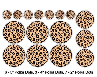 Peel and Stick Leopard Polka Dot Stickers Removable/Repositionable Polka Dot Wall Decals Art