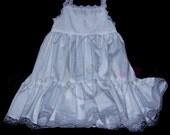 Christening White Gown Slip  Baby Girls Slip Cotton Slip White Slip  Infant Slip