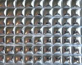 100 MINI Silver Glazed Ceramic Tiles 3/8 in.//Mosaic Supplies//Crafts