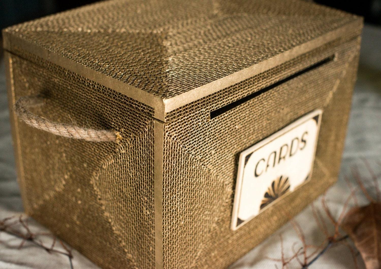 Wedding Card Box Rustic Card Box Wedding Card By ByNaturelle