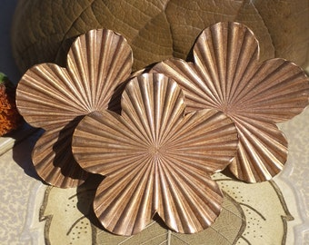 Large Flower Ruffled 62mm 24g Blanks Cut out for Enameling Stamping Texturing