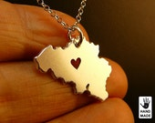 BELGIUM Handmade Personalized Sterling Silver .925 Necklace in a gift box