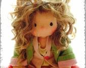 Miss Dakota - 14inch Handmade Waldorf doll