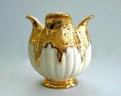 Art Vase Decor Ceramic Vase Mid Century Vase Collectible Vase Art Pottery Vase Porcelain Vase 24K Gold Vase Retro Small 1950s Made in USA