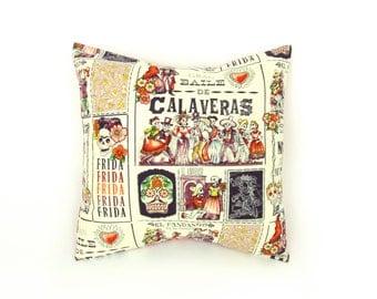Day of the Dead Baile de Calaveras Pillow Cover  18 x 18