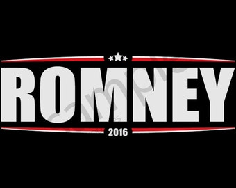 Mitt Romney 2016 T-Shirt Tee (Stars & Stripes) - Men's, Women's Ladies, Short, Long Sleeve, Youth Kids