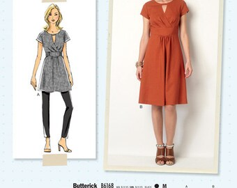 B6168 ~ LISETTE for Butterick ~  Semi-Fitted Tunic or Dress ~  Multi-Size Sewing Pattern