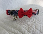 4th of July Cat  Breakaway Collar Custom Made