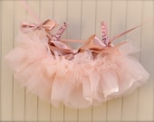 Newborn Tutu--Baby Ballerina blush pink. Teeny, tiny and can be hung in the nursery. Clothes pins and ribbon included.