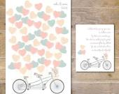 Wedding Guestbook, Unique Guestbook, Guestbook Print, Hanging Guestbook, Alternative Guestbook, Balloon Guestbook, Bicycle - Vintage Bicycle