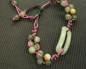 IMAGE .... Natural Jade Bracelet / Handknotting Jewelry