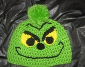 Grinch Inspired Hat   3 to 6 Month's