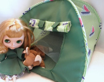Pop Up TENT Boats dolls or stuffed animals up to 14 inch