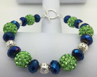 Seahawks inspired bracelet