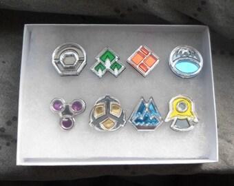 Pokemon Sinnoh Region 8 Piece Gym Leader Badge Set