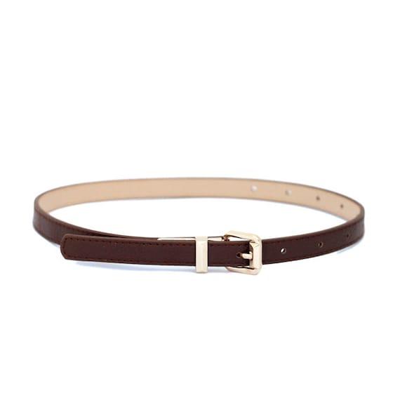 s brown vegan leather belt by onelittlebelt on