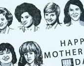Letterpress Mother's Day Card - Sitcom Moms