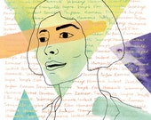 SALE, Amelie movie print, Amelie illustration, Amelie Poulain art