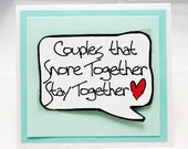 Couples Cards. Funny Anniversary Card. Funny Love Card.Funny Adult Card. Snore. Small Card with Magnet. MN249