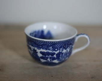 vintage blue willow coffee cup made in japan