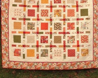 "Queen quilt Allure fabric by Moda designed by Sanae 93"" square"