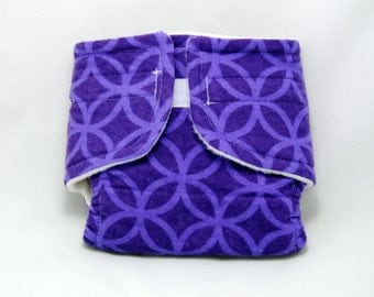 Baby Doll Diaper Purple Pattern - Size Large