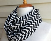 Chevron infinity scarf, Snood scarf, Zig Zag Scarf Gift for girl, gift for mom, Chiffon Scarf, Urban Outfit, Lightweight Spring Fashion