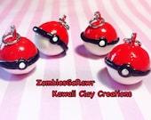 Kawaii Pokemon Pokeball inspired Charm