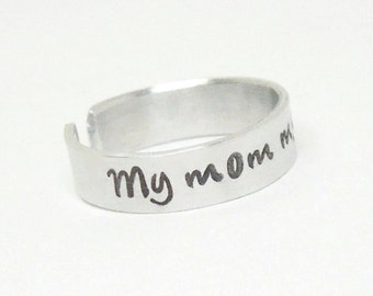 My mom my hero ring - Gift for mom - Mother birthday gift - Gift for Mom birthday - Mother's day gift - Mother gift - Gift for Mothers Day
