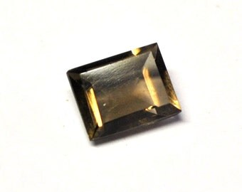 Faceted Smokey Quartz, Rectangle Table Cut - 10.0 x 7.9 x 4.6 mm - 3.1 ct - S1501-70