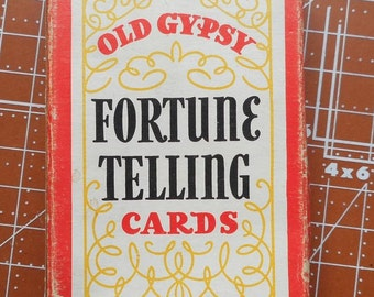 Vintage Old Gypsy Fortune Telling Cards 1940   No 3013