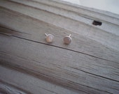 Chocolate Moonstone Stud Earrings 6mm