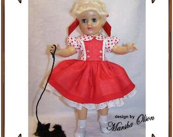 PDF - Toni Doll Clothes Pattern -Shirtwaist Dress - No. PDF-203