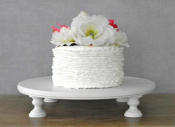 Cake Stand 16 Wedding Round White