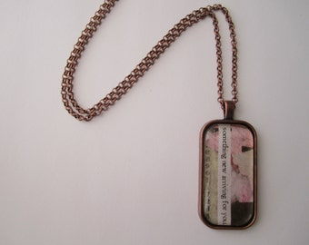 Something New Arriving for You - Collage & Poetry Pendant