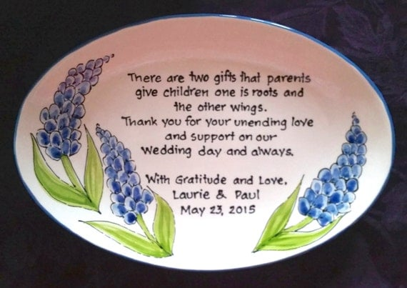 Wedding Gift for Parents Plate - Thank you Mom and Dad - Parents Gift ...