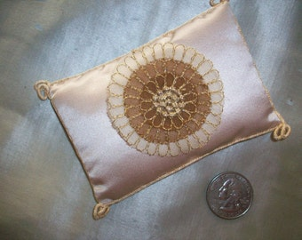 1 metal and silk organza embroidered french applique
