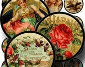 Vintage Cigar Labels Digital Collage Sheet ON SALE!!! - Humidor, Tobacco Digital Download - Victorian 2 Inch Circle #2 - INSTANT Download