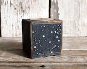 Zodiac Blackened Candleblock: No. 1, Stars by Peg and Awl
